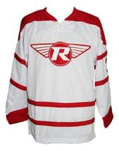 Custom Name # London Racers Hockey Jersey New White Adam Dobson Any Size image 1