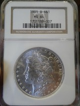 NGC CERTIFIED MS64 1901 O SILVER DOLLAR LOOK!!!!!! - $187.11