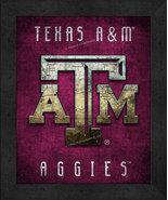 """Texas A&M Aggies """"Retro College Logo Map"""" 13x16 Framed Print  - $39.95"""