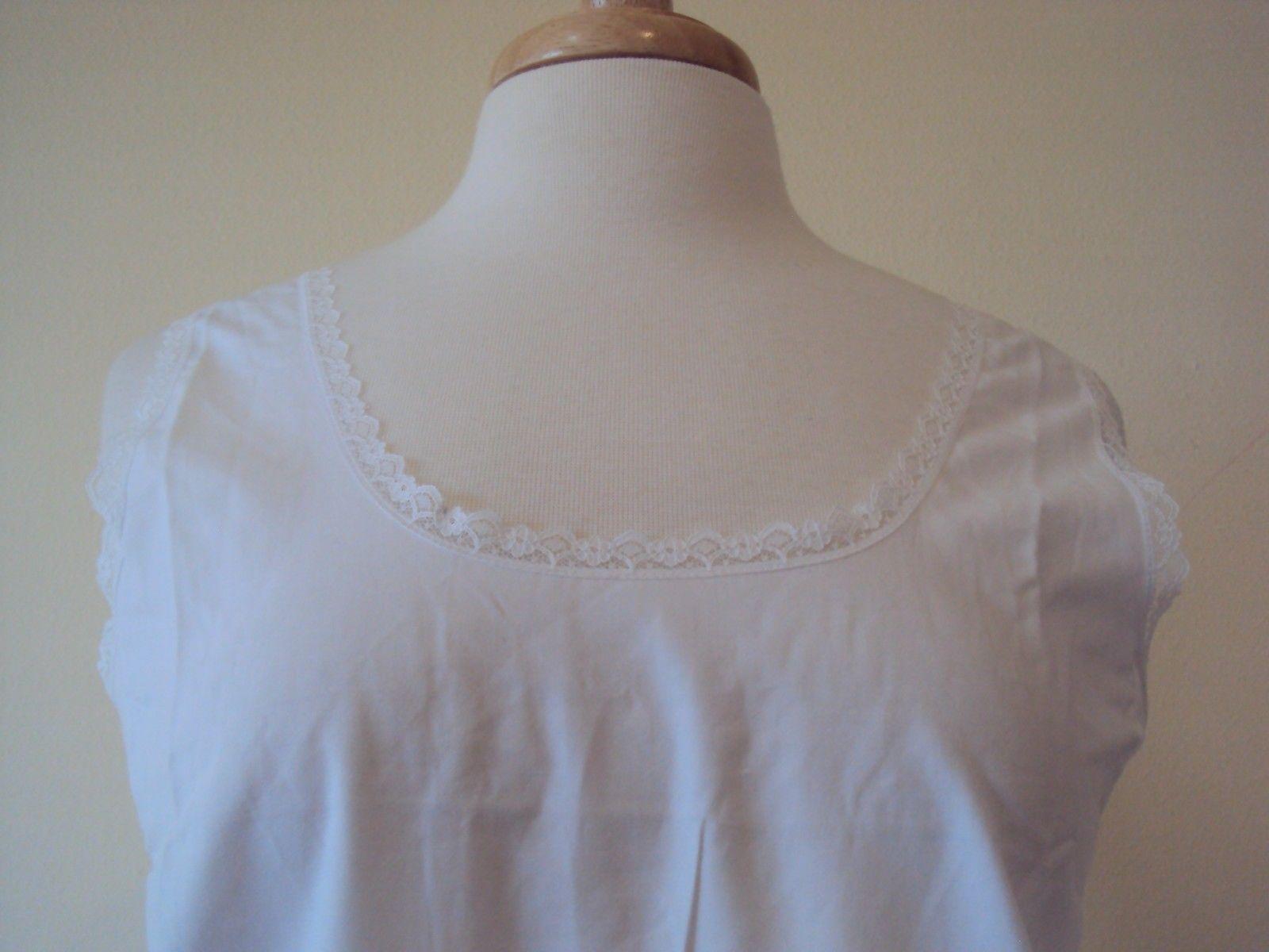 Velrose Lingerie Cool Cotton Cotton Full Slips White Style 801 size 36-54 image 2