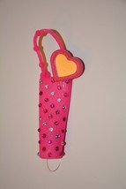 Bath & Body Works Lip Gloss Stick Carrier Holder Pink with heart New with tag - $13.29
