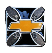 """Chevrolet Bowtie Iron Cross Receiver Hitch Cover - Fits 2"""" & 1-1/4"""" Rece... - $19.99"""