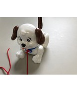 Fisher Price Dog Puppy VINTAGE PULL TOY Bark Motion Hard Plastic Collect... - $14.36