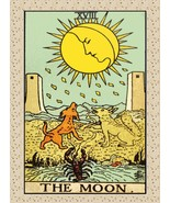 Decoration Poster from Vintage Tarot Card.The Moon.Mystical.Wall Decor.1... - $10.89+