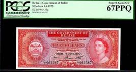 "BELIZE P35a ""QUEEN ELIZABETH II' $5 1975 PCGS 67PPQ - $1,695.00"