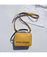 MARC JACOBS THE TEXTURED MINI BOX BAG YELLOW - $289.00