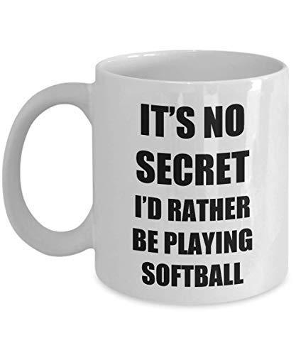 Softball Mug Sport Fan Lover Funny Gift Idea Novelty Gag Coffee Tea Cup
