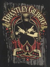 Brantley Gilbert T-Shirt Crossed Arms Adult Country Music Band Rock Mens... - $18.66