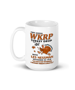 WKRP Turkey Drop with Les Nessman Funny Coffee Mug - Thanksgiving Day Gi... - $12.82+