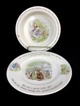 Beatrice Potter Peter Rabbit Mrs. Tiggy Winkle Wedgwood Nursery Ware Plate Bowl - $28.01