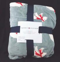"Tommy Hilfiger Full Queen Plush Blanket 90"" x 90"" Gray Polar Bear - $59.99"