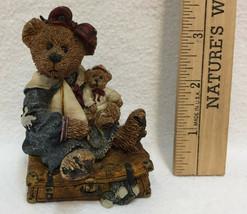 Boyds Bear Bailey w/ Suitcase Figurine Journey Begins Single Step Resin 2000 - $14.10
