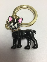 Kate Spade Jeweled Ma Cherie Antoine French Bulldog Keychain Charming New  - $32.99