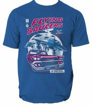 Flying Saucers mens t shirt Alien Comic Invasion Retro Aliens Space S-3XL  - $13.04+