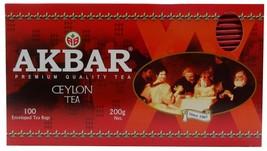 Akbar Premium Quality Ceylon Tea 100 Enveloped Tea Bags, 200g - $22.00
