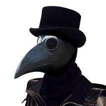 PartyHop Plague Doctor Mask, Black Bird Beak Steampunk Gas Costume, for ... - $38.80 CAD