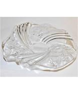"Studio Nova Festive Swirl Crystal Glass Bon Bon Plate 8.75"" Germany New ... - $24.75"