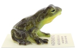 Hagen-Renaker Miniature Ceramic Frog Figurine Brown Frog Kissing image 2