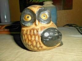 Otagiri Owl Brown Pottery Stoneware Figurines Japan OMC MOMMA OWL - $12.19