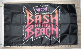 WCW Bash at the Beach PPV 1996 3'x5' black flag WCW, WWF USA Seller shipper - $25.00