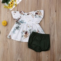 Baby Clothing 2019 Newborn Infant Toddler Baby Girl Floral Tops Dress+Sh... - $8.69