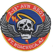 "ARMY 2-13 AVIATION REGIMENT FORT HUACHUCA EMBROIDERED 4.25"" PATCH - $16.24"