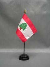 "Lebanon 4X6"" Table Top Flag W/ Base New Desk Top Handheld Stick Flag - $4.95"