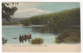 Boating Forest Lake Palmer Massachusetts 1907c postcard - $5.45