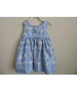 George Toddler Girls Dress Baja Blue Flowers Spring 24M Church Easter Pa... - $13.87