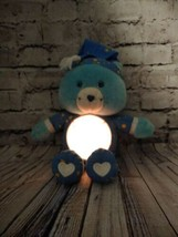 "Care Bears 2002 TALKING BLUE BEDTIME BEAR 13"" Plush Stuffed Animal Toy L... - $29.95"