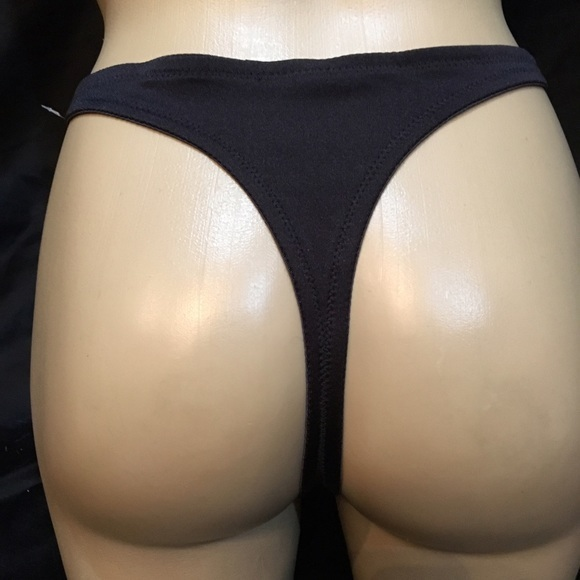 Natori black & nude lace thong panty 7250443 Small S NEW