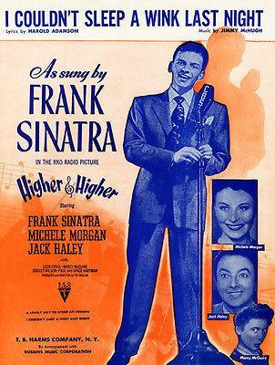 Primary image for Frank Sinatra - I Couldn't Sleep A Wink Last Night - 1945 - Sheet Music Poster