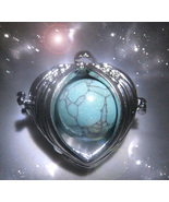 Haunted ANGEL WINGS LOCKET SERAPHIM ANGEL GUIDE VESSEL TURQUOISE WITCH C... - $77.77