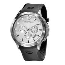 Emporio Armani AR0634 Black Rubber Strap Sportivo Chronograph Watch - $174.99