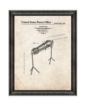 Electric Guitar Patent Print Old Look with Black Wood Frame - $24.95+