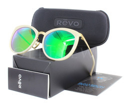 NEW Revo RE 6005 04 GF GN Dauphine Gold Ivory / Green Water Sunglasses - £66.02 GBP