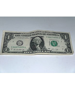 2013 One Dollar Bill US Note Haunted 666 5-6's 66674626 Fancy Serial Number - $14.08