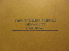 Avon Tree Trimmer Friends Cardinal ornament image 3