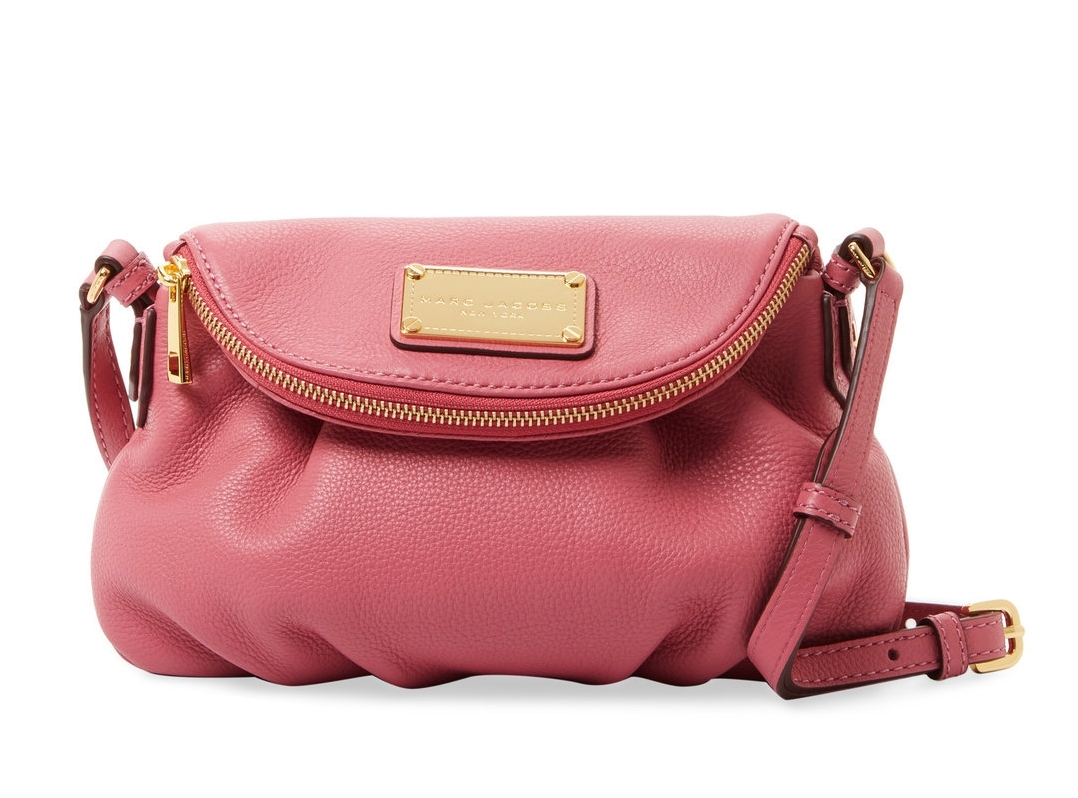 Primary image for NWT Marc Jacobs Classic Mini Natasha Leather Crossbody Bag DUSTY ROSE PINK $300+