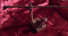 Hand Carved Oak Wand & Barking Dog Wand Stand - $88.00