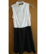 Lily Rose XL Jr White Lace Top Black Skirt Keyhole Back Sleeveless Hi Ne... - $13.96