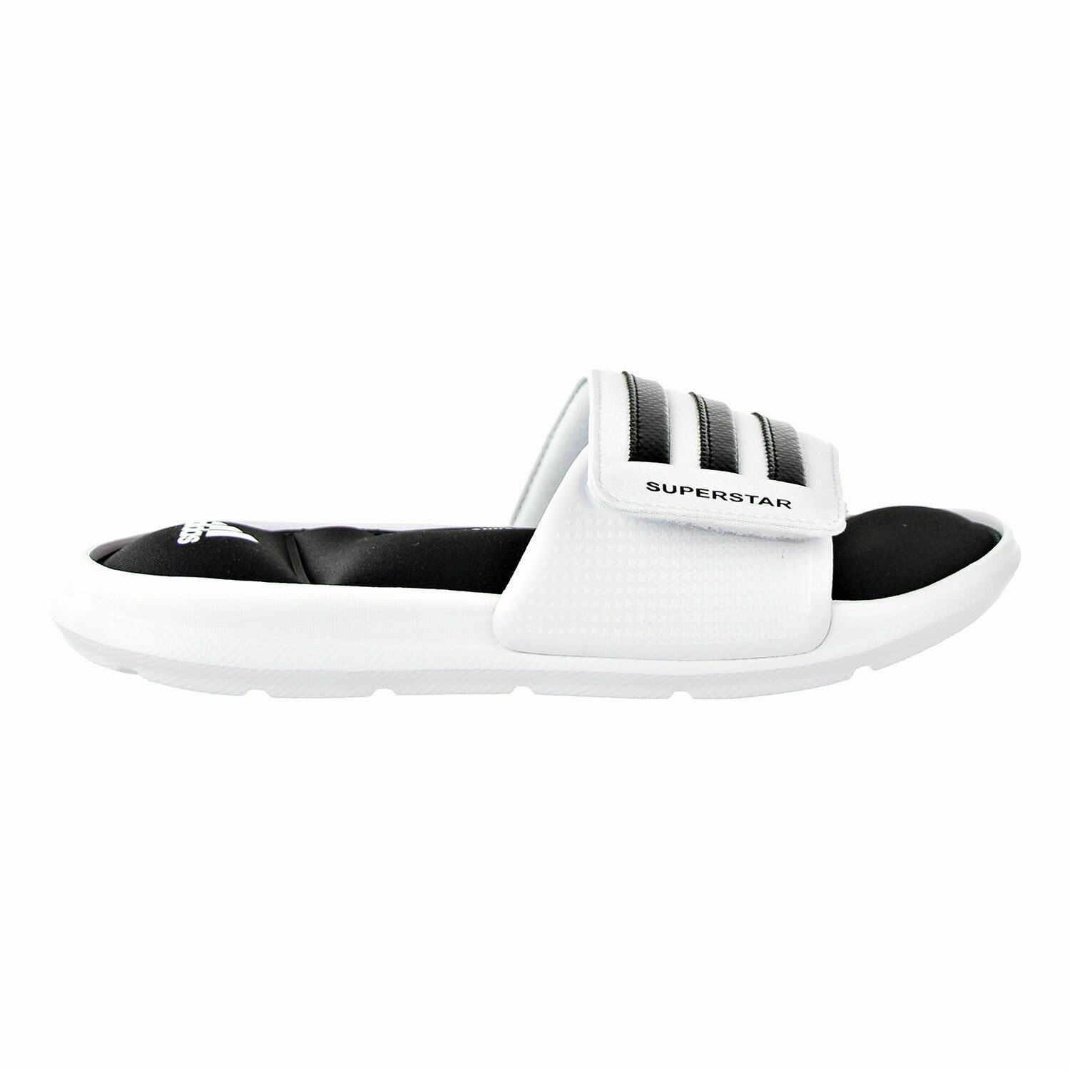 ADIDAS SUPERSTAR SURROUND MEMORY FOAM SLIDE SANDALS MEN SHOES WHITE SIZE 15 NEW image 4