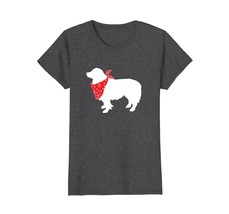 Border Collie Wearing Red Bandana Dog Silhouette T-Shirt - $19.99+