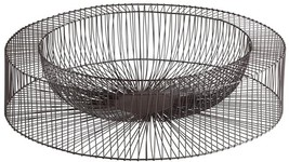 Tray CYAN DESIGN WHEEL Large Gold Leaf Graphite Wire Iron - $2.422,56 MXN