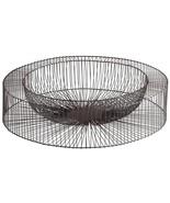 Tray CYAN DESIGN WHEEL Large Gold Leaf Graphite Wire Iron - $122.50