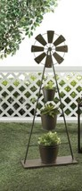 "Decorative WINDMILL PLANT STAND Iron 41"" high  - $52.95"