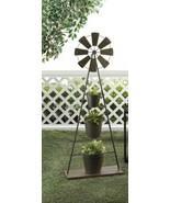 "Decorative WINDMILL PLANT STAND Iron 41"" high  - $52.95"
