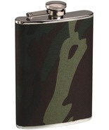 Woodland Camouflage Stainless Steel 8 Oz Military Flask Gift Set - $16.99