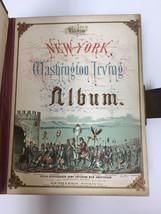 Antique/Vintage Washington Irving Red Leather Photo Album, Gilt edges - $48.37