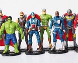The Avengers 2 figures toys doll Age of Ultron 11cm 8pcs/lot Captain America